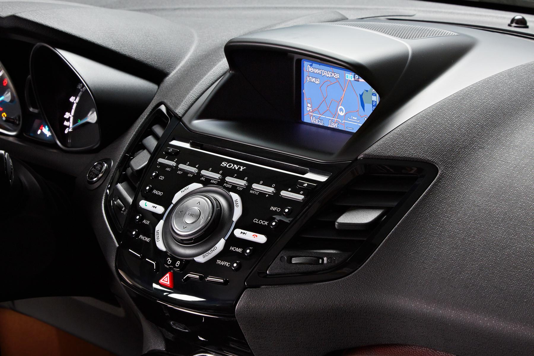 Панель приборов Ford Fiesta 2015