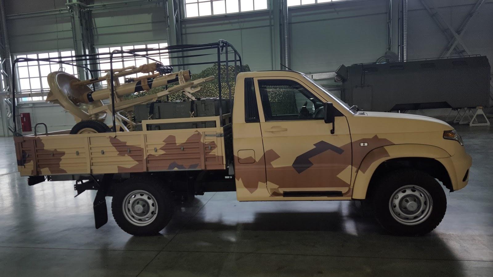 боевой UAZ Cargo