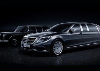 Компания Mercedes-Benz в Москве показала роскошный лимузин Maybach Pullman