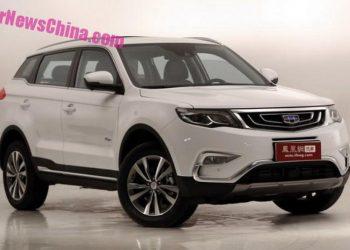 Geely Boyge — новый китайский внедорожник стартует с продажами в январе